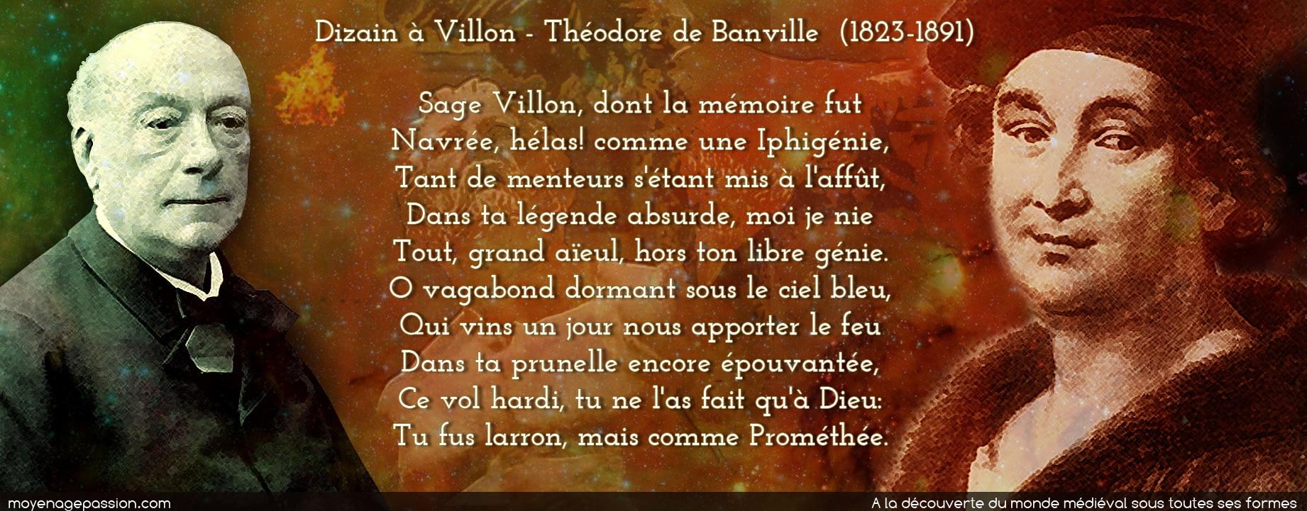 poesie_medievale_theodore_banville_dizain_francois_villon