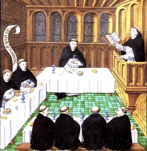 La vie communautaire des moines bénédictins, Bibliothèque royale de Belgique