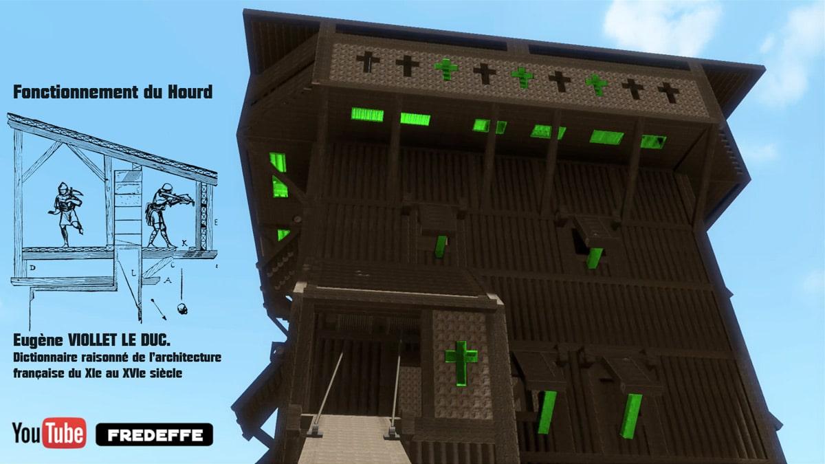 hourd_architecture_defensive_medievale_chateau_fort_bois_motte_castrale_reconstitution_historique_video_documentaire_moyen-age