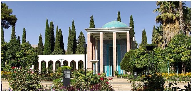 Le mausolée du poète Saadi à Chiraz, Iran.