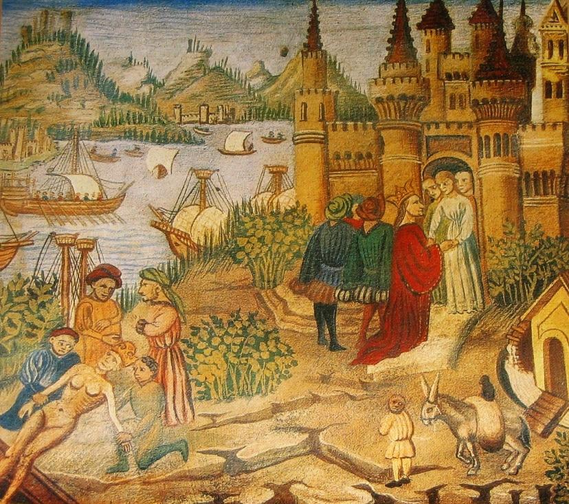 L'école de Salerne, miniature tiré du Canon de Médecine d'Avicenne, Ibn Sina