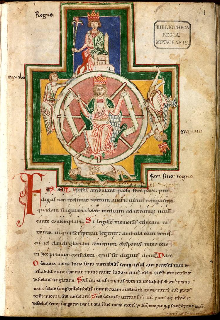 poesie_medievale_morale_manuscrit_carmina_burana_roue_de_la_fortune_gloire_impermanence