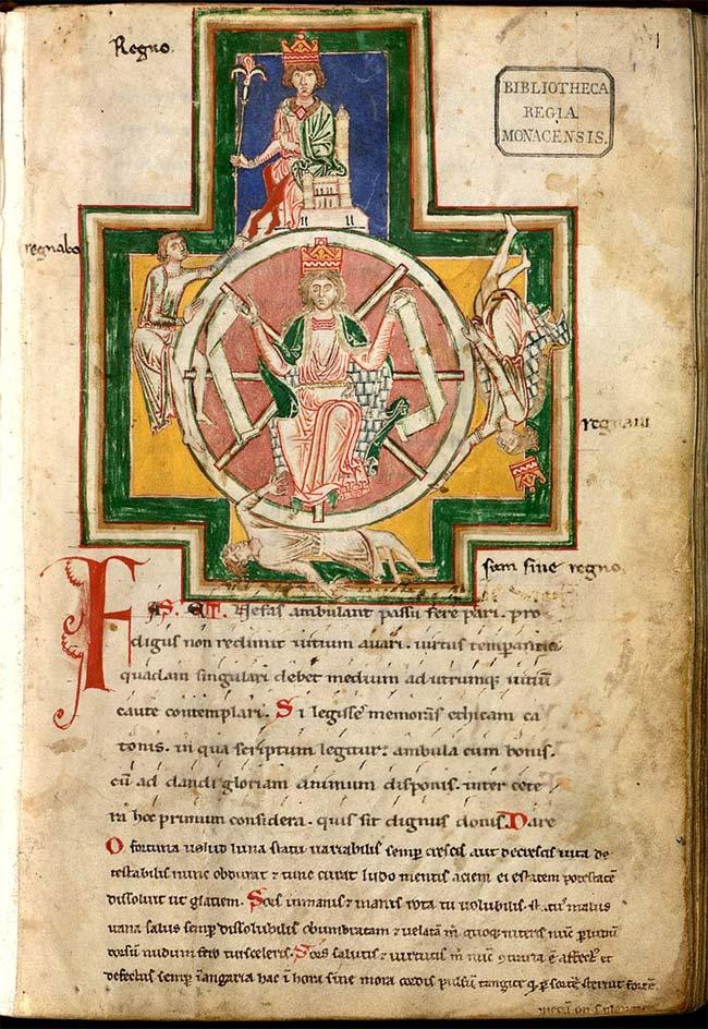 poesie medievale morale manuscrit carmina burana roue de la fortune