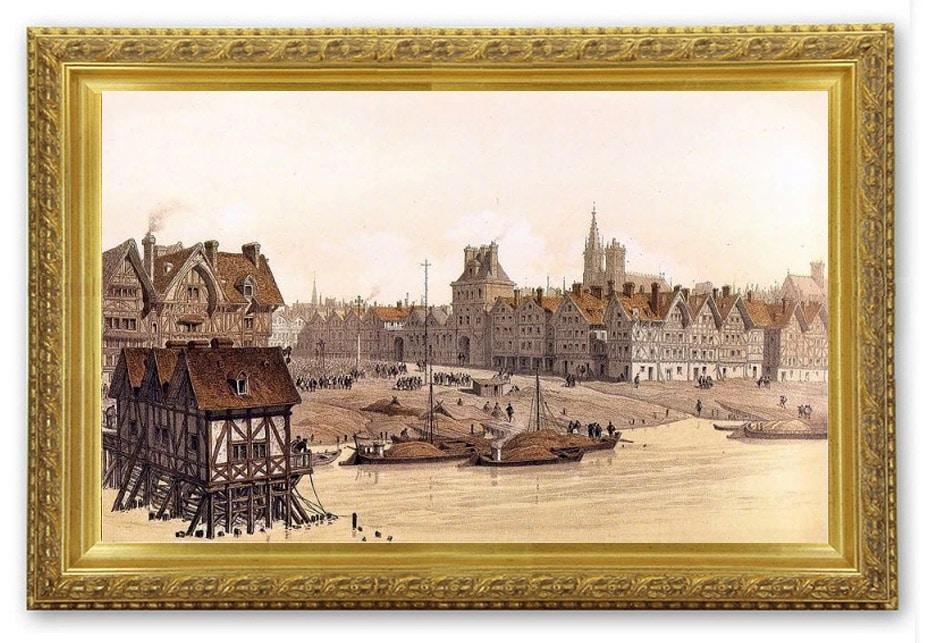 La place de Grève, à la fin du XVIe (1583) Theodor Josef Hubert Hoffbauer (1839-1922)