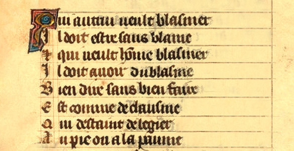 citations_medievales_manuscrit_ancien_roman_rose_jean_de_meung_arsenal_5209_moyen_age