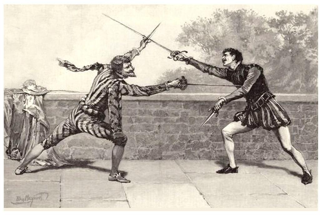 poesie_medievale_eustache_deschamps_villon_duel_epee_honneur
