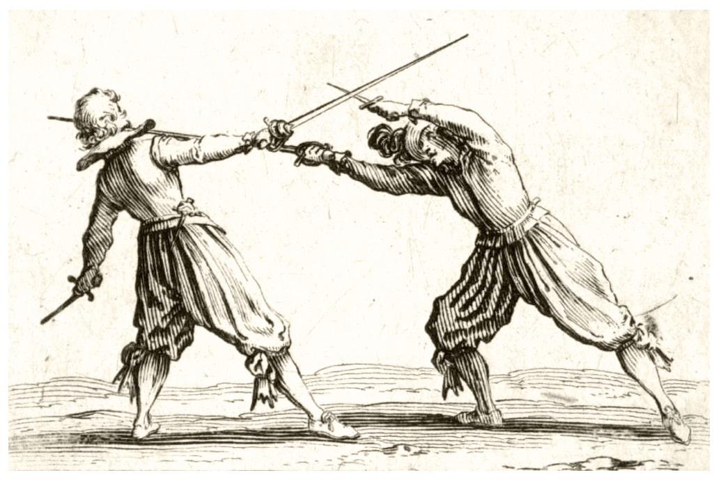 Jacques Callot (1592-1635) le duel à l'épée et au poignard