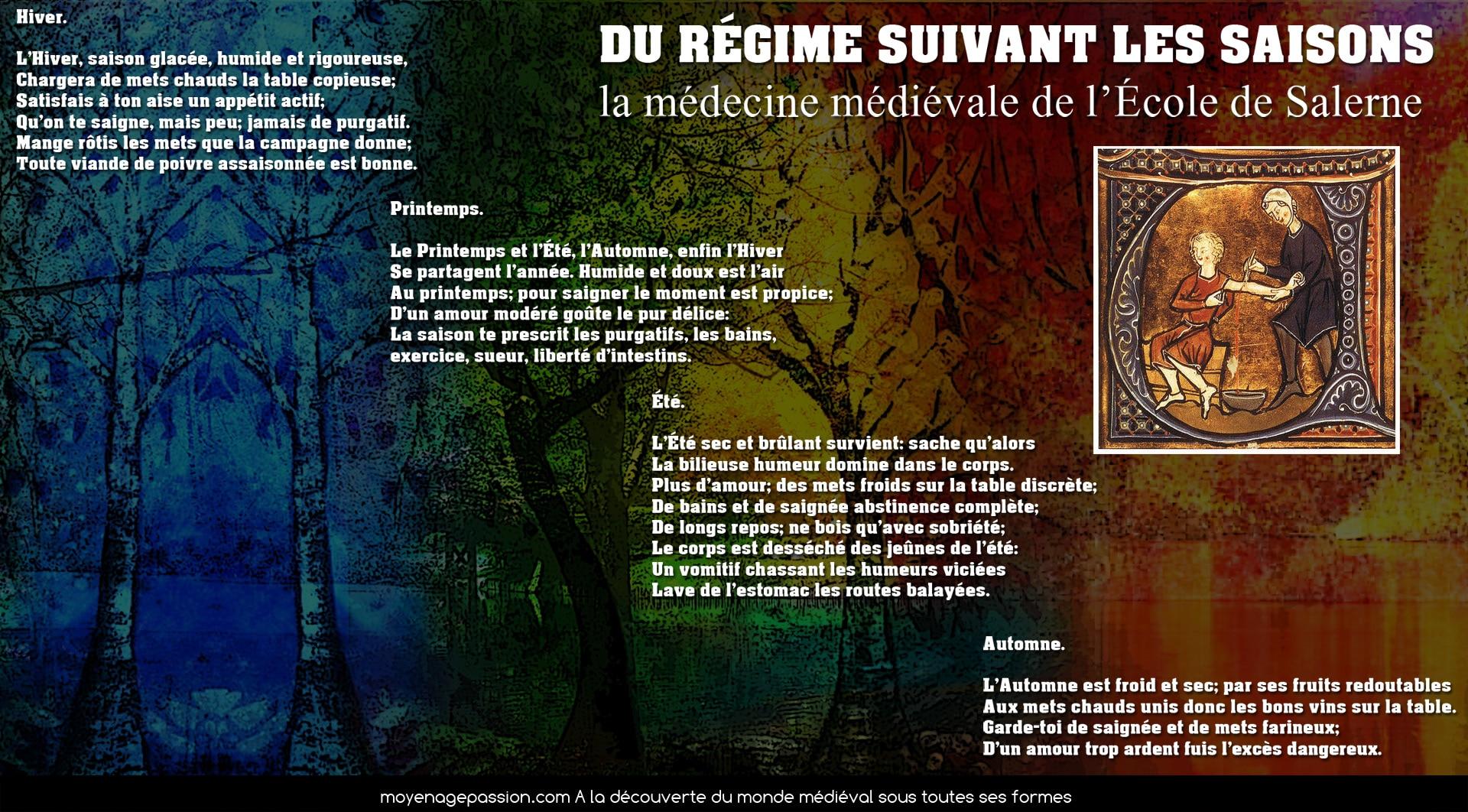 citations_medecine_medievale_ecole_de_salerne_regimen_sanitatis_influence_saisons_saignee_phlebotomies_moyen-age_central