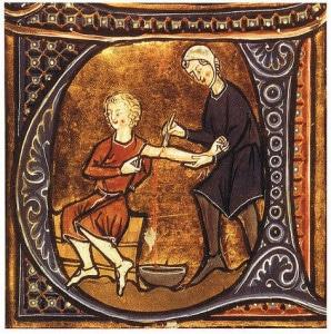 medecine_medievale_enluminures_saignee_ecole_salerne_flos_medicinae_moyen-age_central