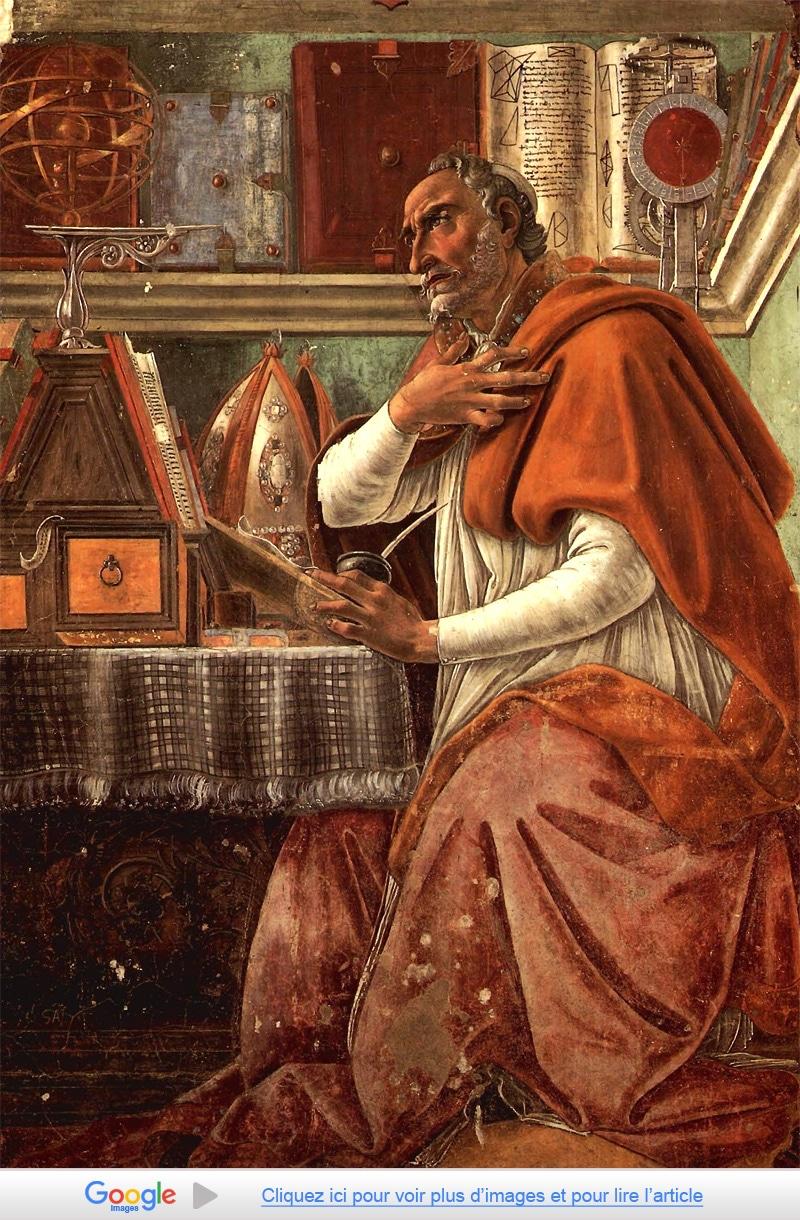 Saint-Augustin d'Hippone, vu par Sandro Boticelli (1445-1510)
