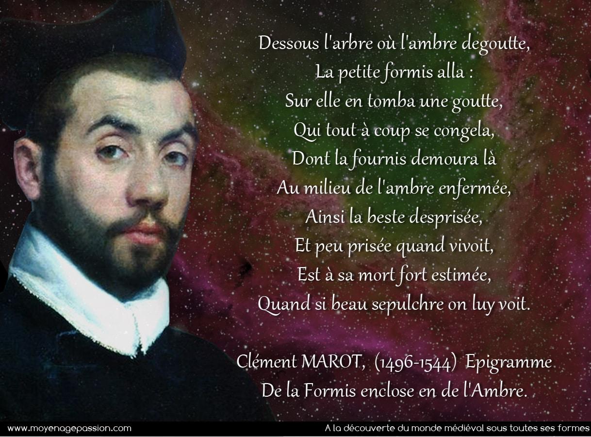 clement_marot_poesie_medievale_moyen-age_tardif_renaissance_epigramme_satirique