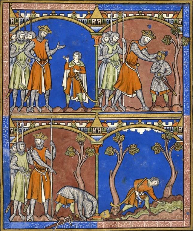 enluminure_moyen-age_bible_de_morgan_david_goliath_histoire_passion_medievale_portail_divertissement_information_moyenagepassion