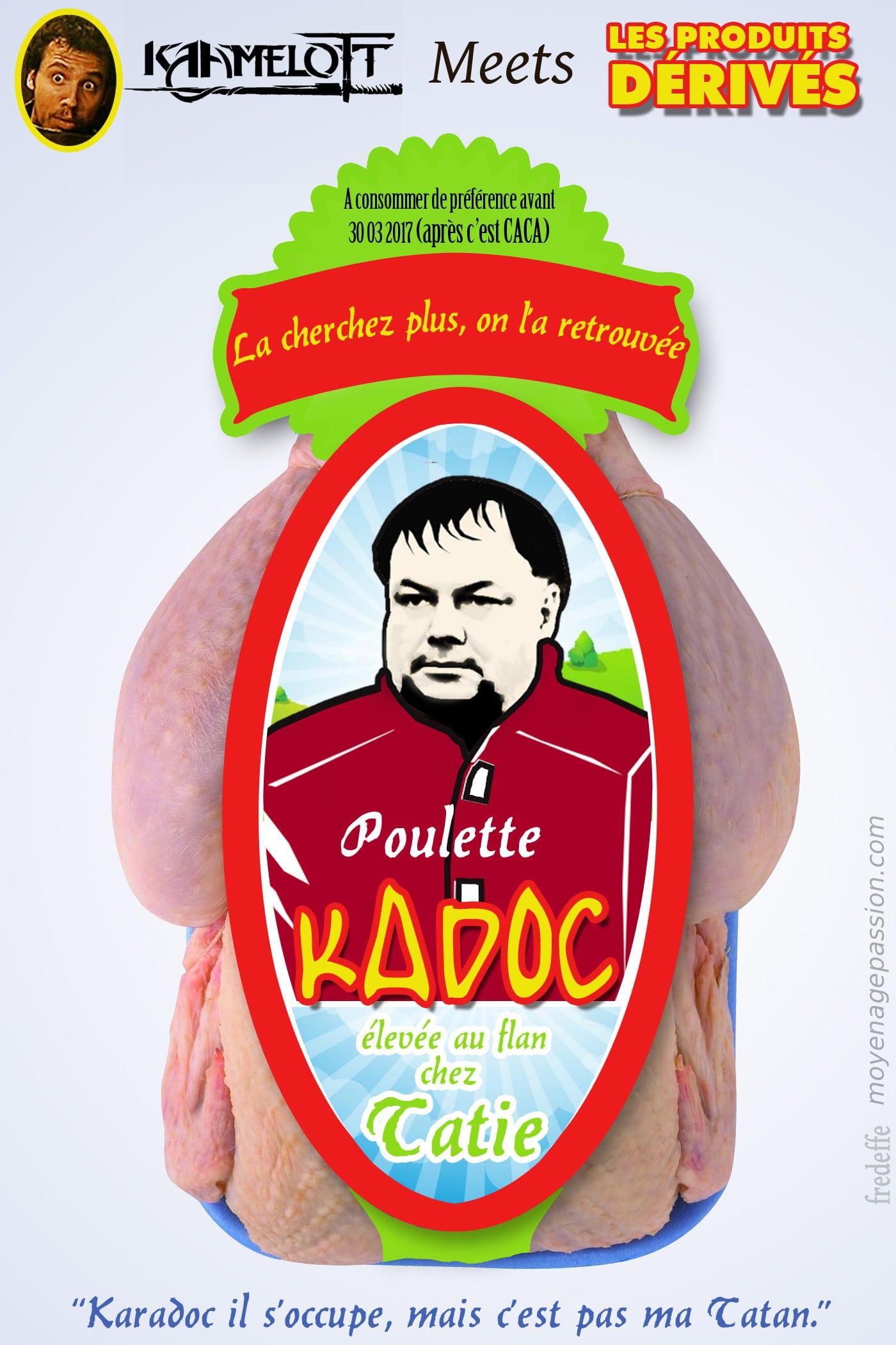 Kadoc et la poulette, moment culte de la série Kaamelott d'Alexandre Astier avec Brice Fournier