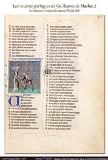 manuscrit ancien fr1586 musique poesie medievale guillaume de machaut