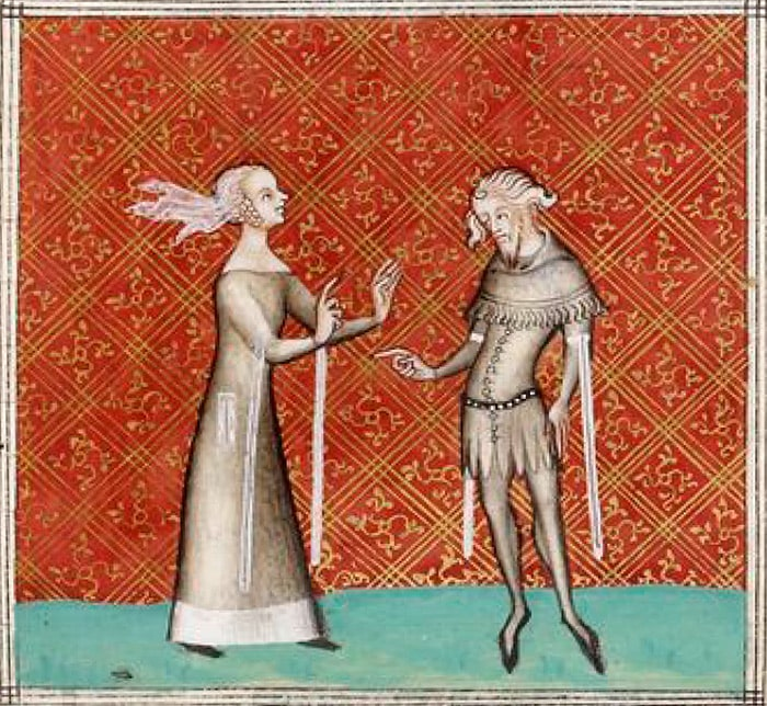 Le remède de fortune, référence musicale et poétique du XIVe siècle, enluminure Manuscrit FR1586 Gilles de Machaut (1356-1360)