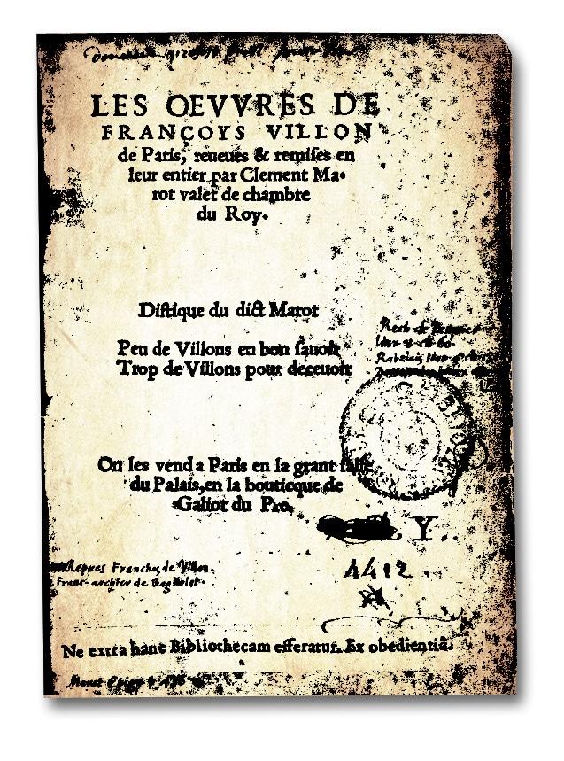 poesie_litterature_medievale_clement_marot_oeuvres_francois_villon_edition_ancienne_1533_renaissance