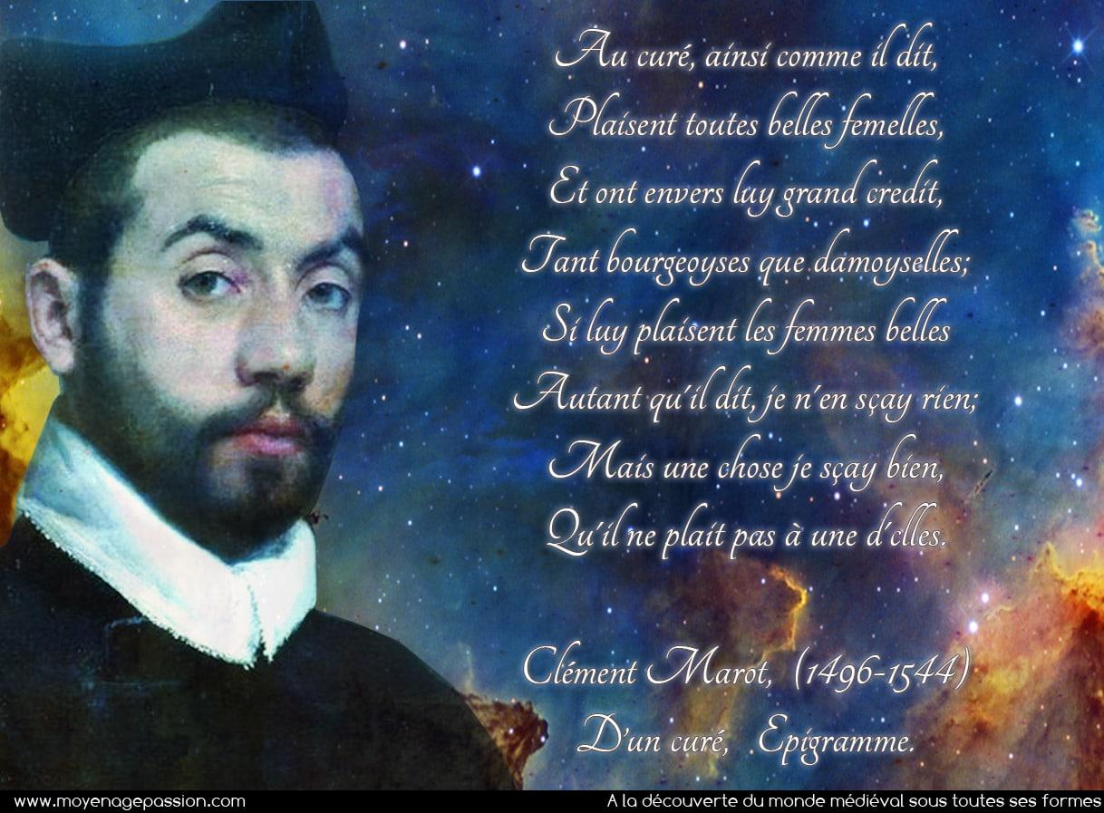 clement_marot_poesie_satirique_satire_humour_medieval_citation_medievale_epigrammes_moyen-age_renaissance