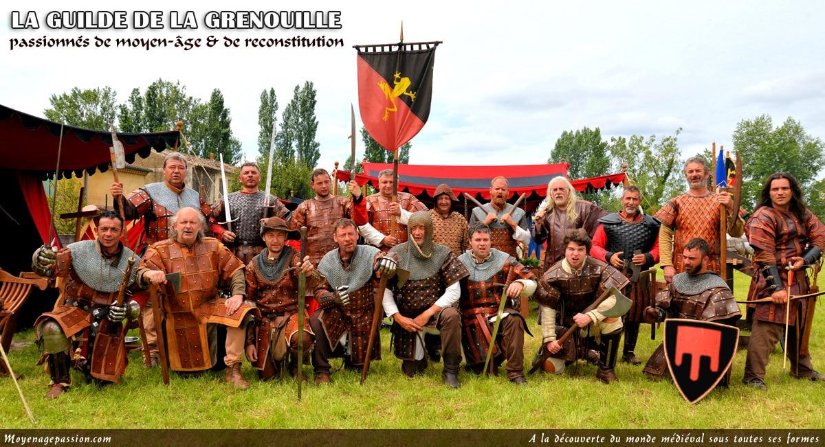 compagnies_troupe_medievales_guilde_grenouille_reconstitution_animation_historique_moyen-age_central_XIIIe_passion_histoire_vivante