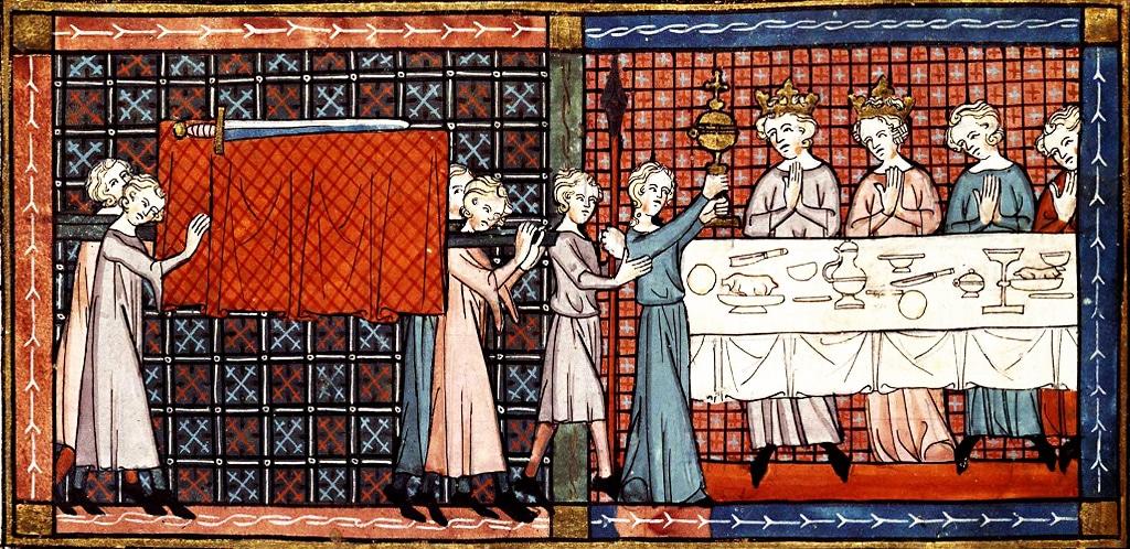Le Conte du Graal Perceval, Chrétien de Troyes Manuscrit ancien, 12577 Bnf (1330)