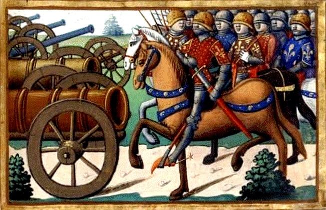 Les meneurs de la Praguerie, enluminure médiévale, XVe, Martial d'Auvergne