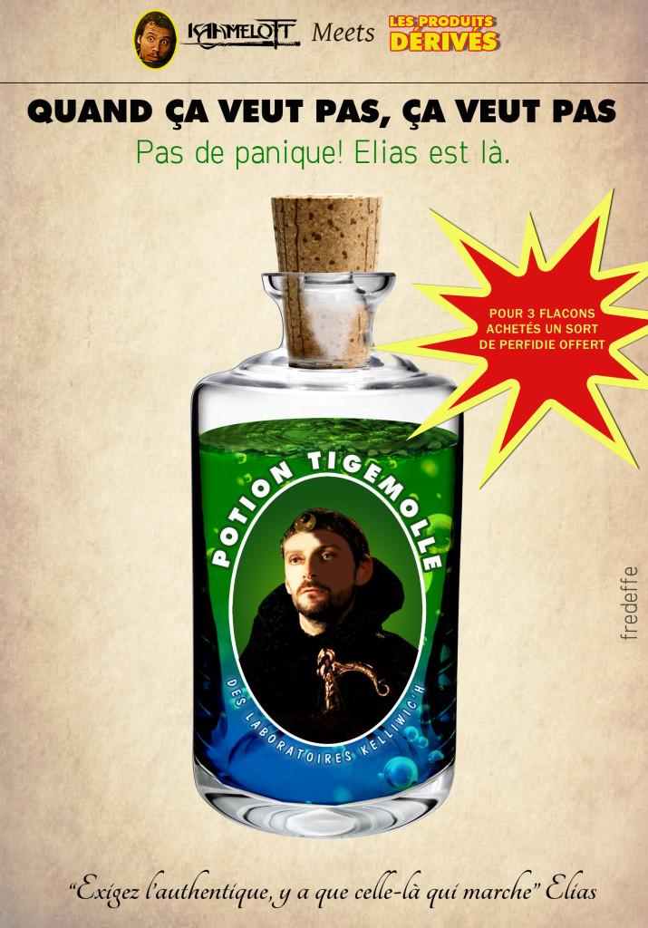 kaamelott_serie_culte_alexandre_astier_produits_derives_humour_detournement_merchandising_elias_enchanteur_bruno_fontaine_potion_de_virilite