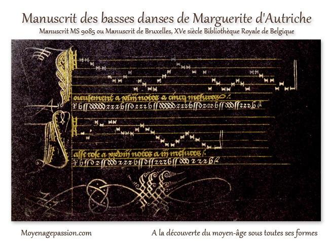 manuscrit_ancien_medieval_danse_musique_XVe_siecle_MS_9085_bourgogne_moyen-age_tardif