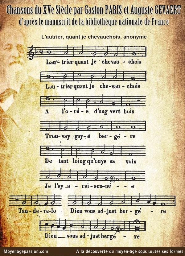 musique_chanson_ancienne_medievale_XVe_Gaston_Paris_lautrier_chevauchois_pastourelle_moyen-age_tardif