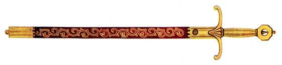 Curtana, épée cérémonielle britannique du XVIIe siècle