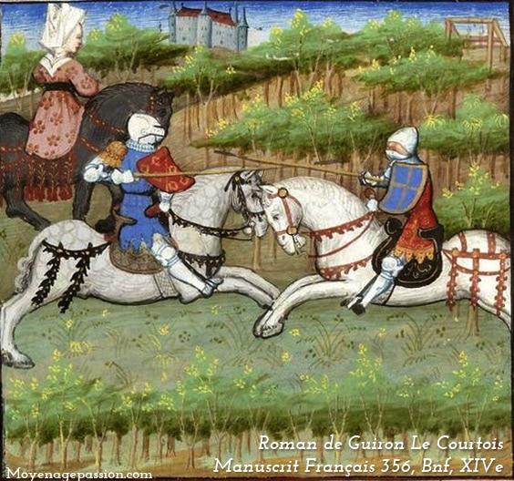 enluminure_chevalerie_ballade_eustache_deschamps_bachelier_armes_chevalier_poesie_medievales_valeurs_chevaleresques_XIV