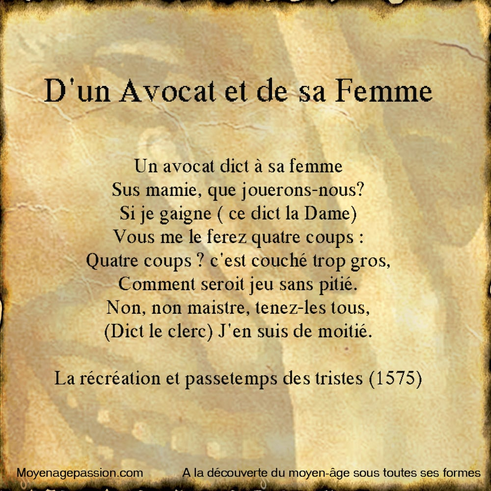 litterature_poesie_ancienne_medievale_ecole_marotique_fin_moyen_age_debut_renaissance_passetemps_recreation_triste_ouvrage_ancien_XVIe_gauloiserie_grivoiserie