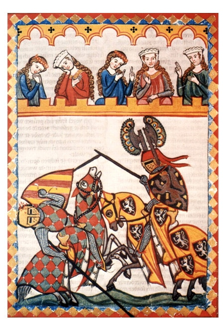 tournoi_medieval_chevalier_bachelier_armes_enluminures_miniatures_valeurs_chevalerie_moyen-age
