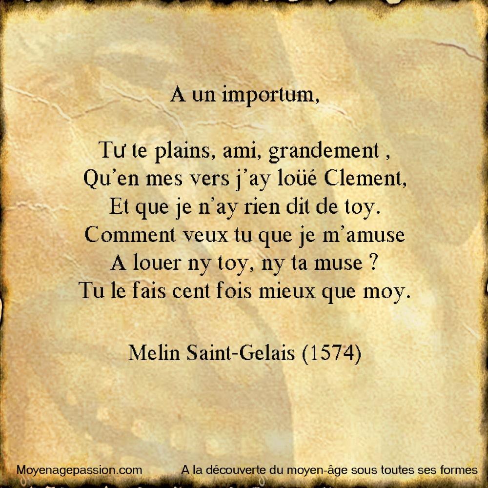 Melin_Saint_Gelais_Gelays_humour_francais_poesie_renaissance_satirique_clement_marot_rivalite_poeitque