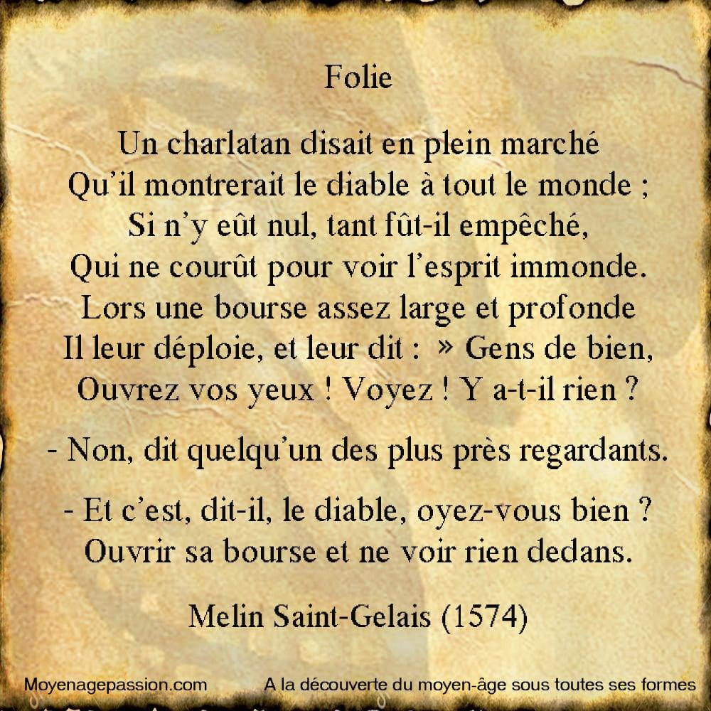 Melin_Saint_Gelais_Gelays_humour_francais_poesie_satirique_charlatan_diable_debut_renaissance_moyen-age_tardif