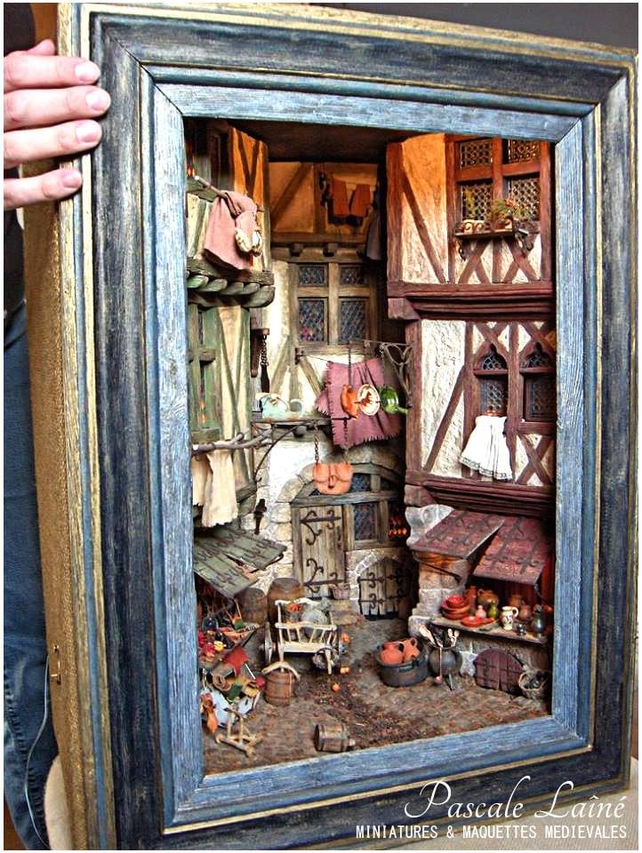art_maquettes_miniatures_scenes_medievales_reconstitution_ruelle_XVe_moyen-age