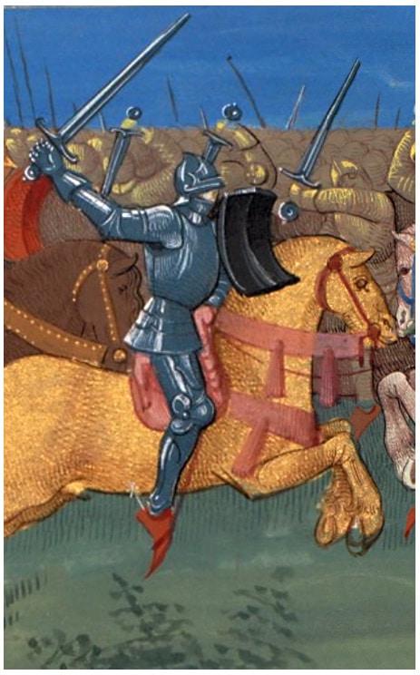 enluminure_legendes_arthuriennes_tristan_tournoi_medieval_combat_chevalier_Ms_fr_189_bibliotheque_geneve