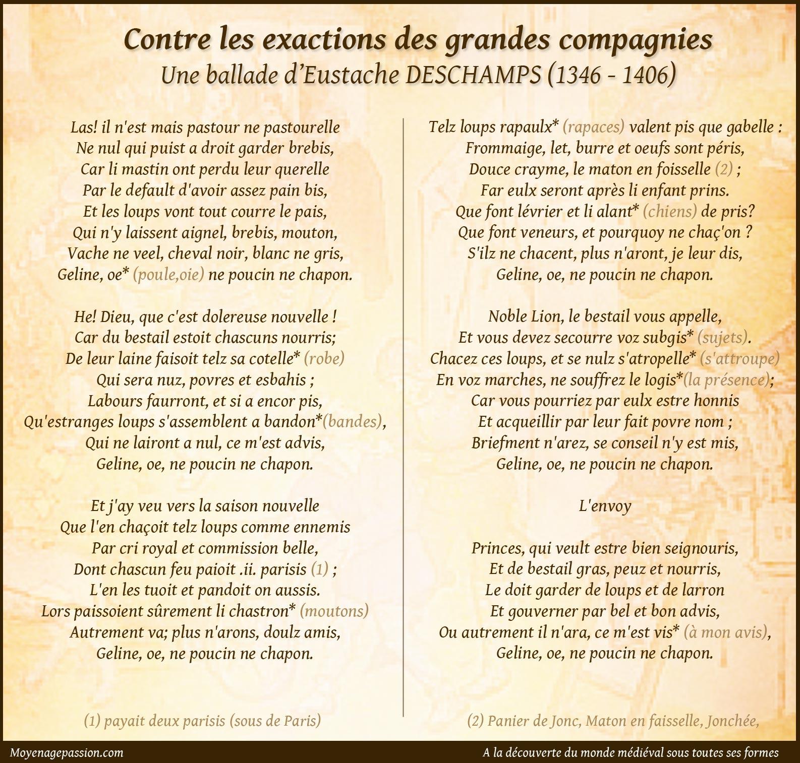 eustache_deschamps_poesie_moyen-age_ballade_medievale_routiers_grandes_compagnies
