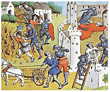 exaction_routiers_grandes_compagnies_guerre_de_cent_ans_eustache_deschamps_auteur_medieval