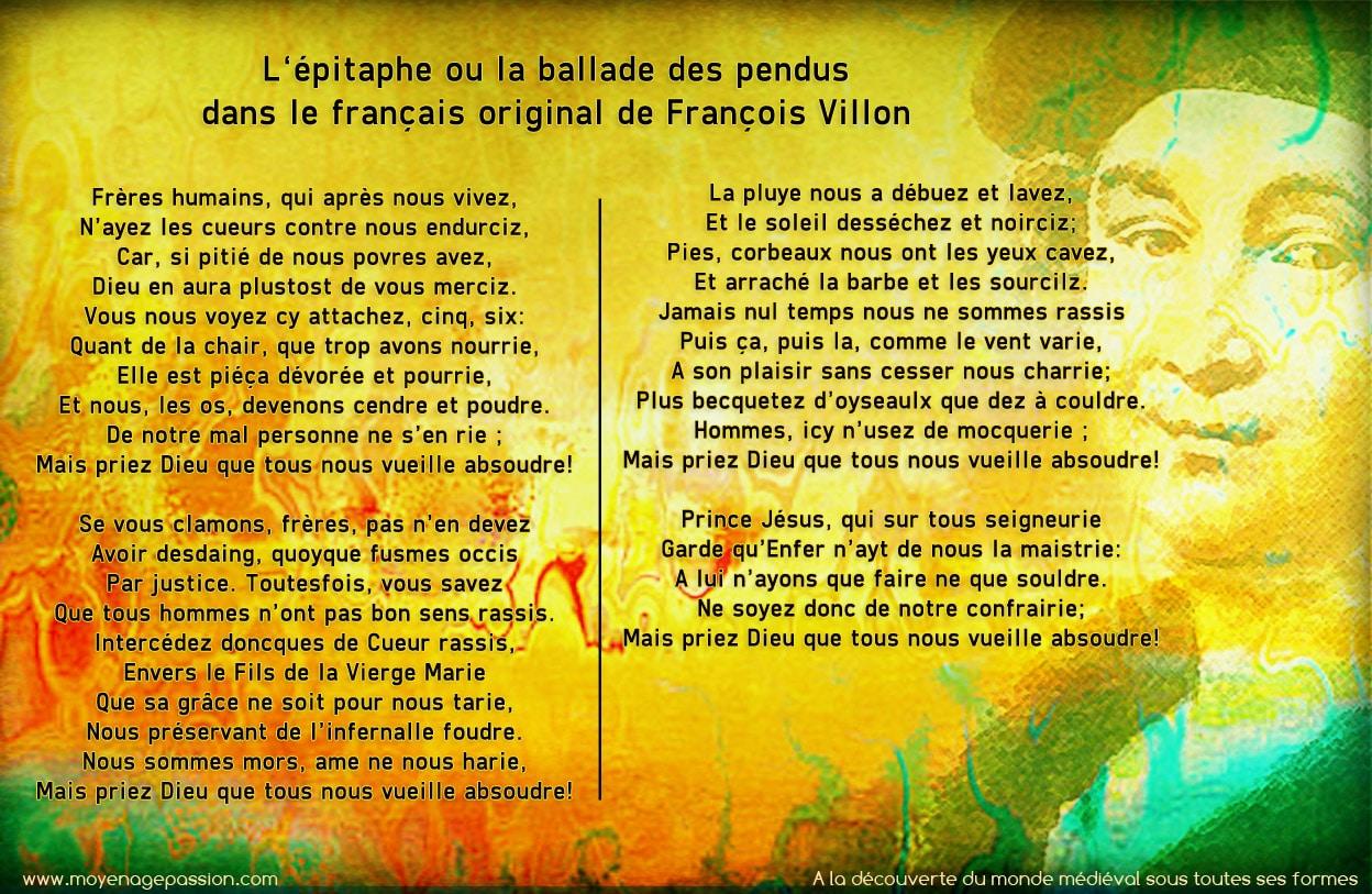 francois_villon_epitaphe_freres_humains_poesie_medievale_realiste_pendus_moyen-age