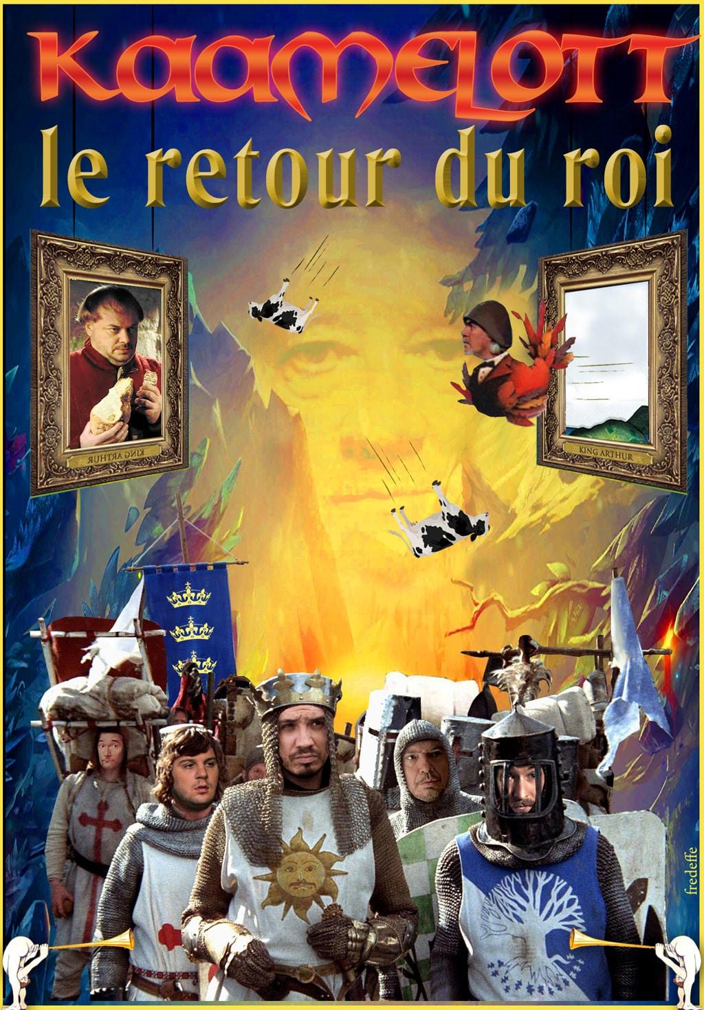kaamelott_holy_grail_saint_graal_humour_affiche_cinema_detournement_alexandre_astier_hommage_Monty_Python