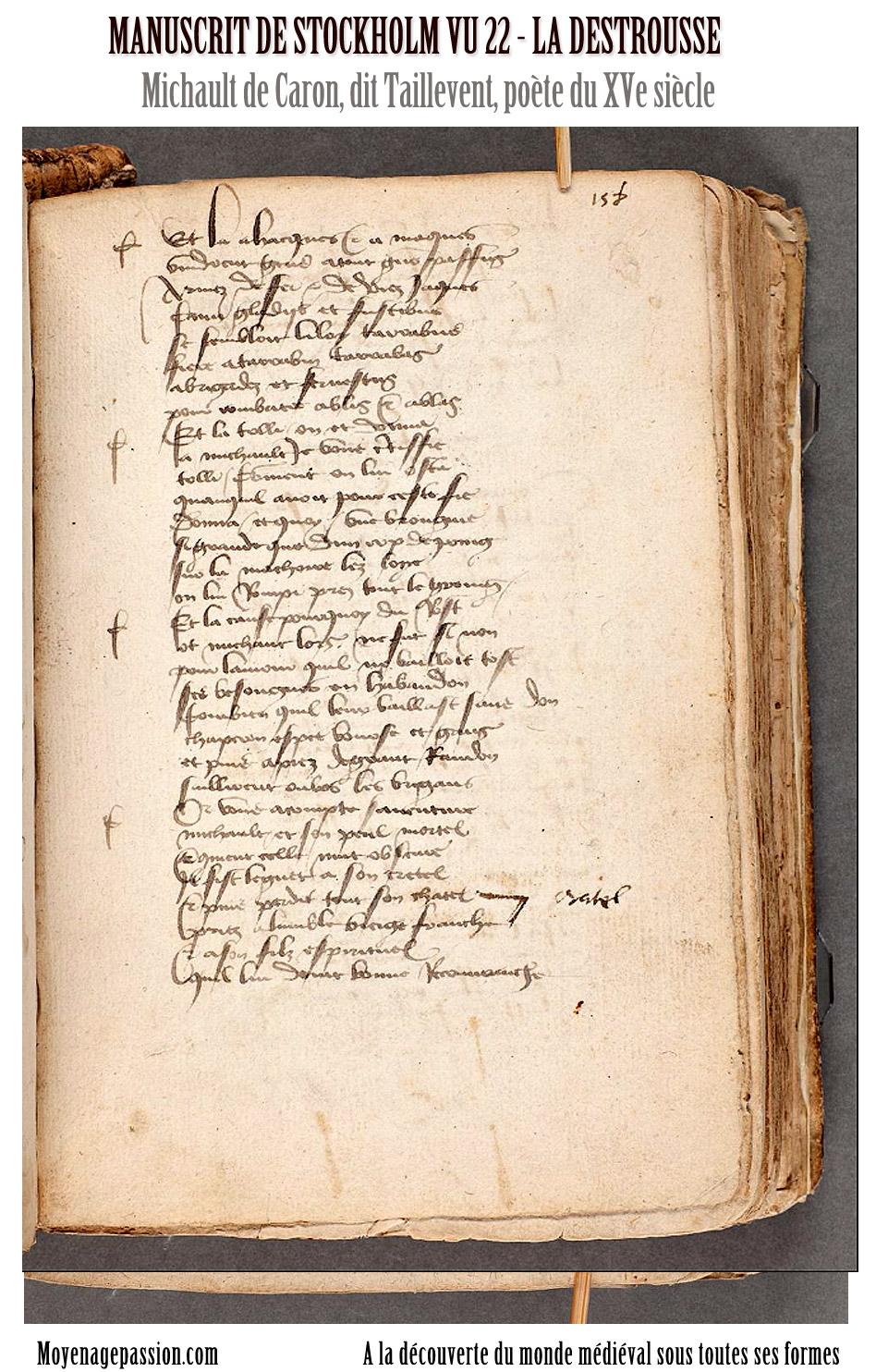 manuscrit_ancien_stockholm_poesie_medievale_michault_taillevent_la_destrousse_XVe_moyen-age_tardif