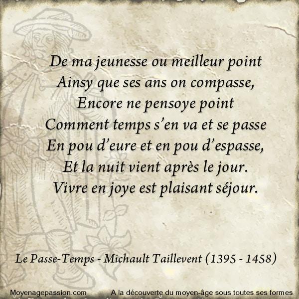 michault_taillevent_poesie_medievale_le_passe_temps_moyen-age_tardif_XVe