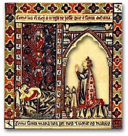 poesie_musique_medievale_cantigas_santa_maria_alphonse_X_le_Sage_manuscrit_ancien_escurial_XIIIe_siècle