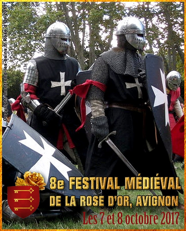 rose_or_festival_fetes_rassemblement_compagnies_medievales_avignon