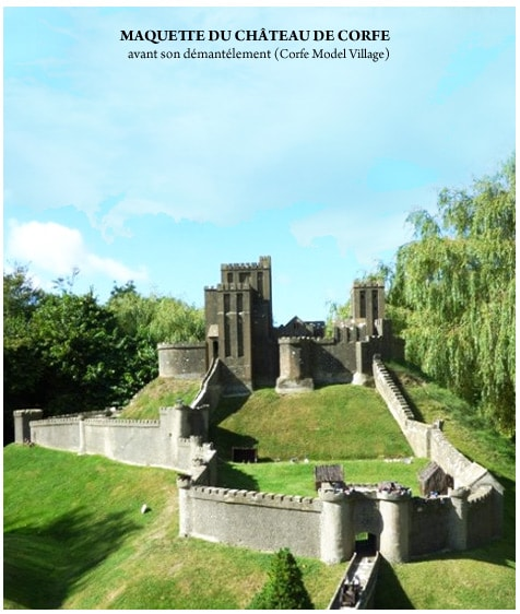 architecture_medievale_chateau-fort_corfe_angleterre_reconstitution_maquette_3D_moyen-age_central