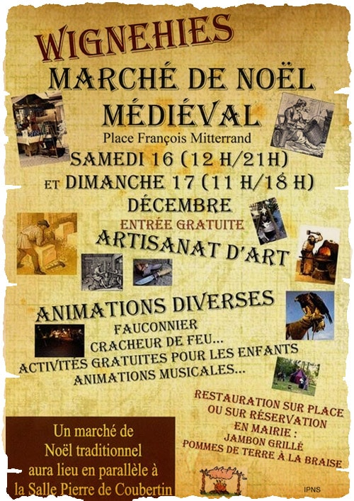 agenda_fêtes_marche_medieval_noel_Wignehies_nord