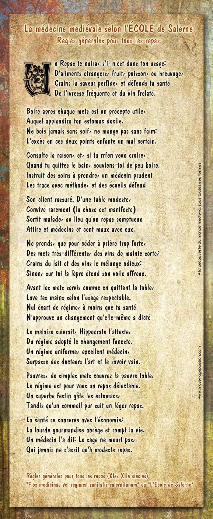 ecole_salerne_citation_medecine_medievale_regles_repas_alimentation_XIIe_moyen-age_central