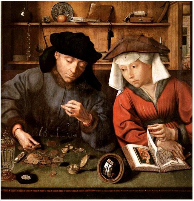 peinture_XVIe_primitif_flamands_preteur_usurier_quentin_metsys_lombards_monde_medieval_renaissance
