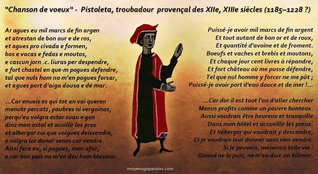 pistoleta_troubadour_chanson_poesie_medievale_voeux_trobar_provence_moyen-age_XIIIe