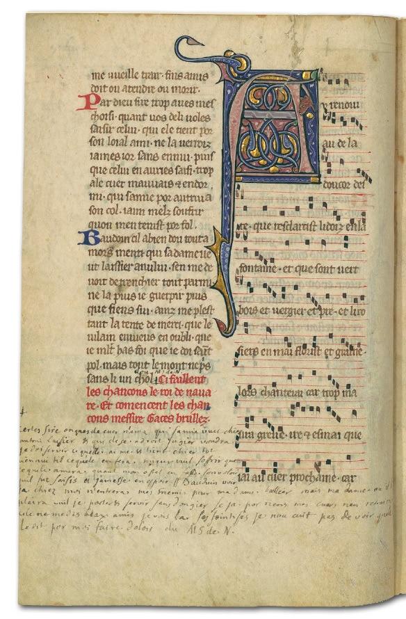Gace_brule_poesie_musique_chanson_medievale_amour_courtois_manuscrit_ancien_chansonnier_archambault_moyen_age