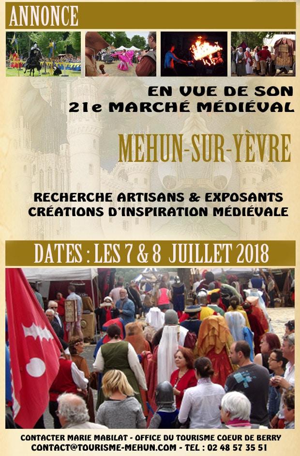 annonce_mehun_yevre_marche_medieval_fetes_animations_recherche_artisans_moyen-age